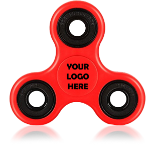 Red Logo Printed Fidget Spinners