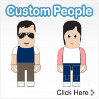 Custom USB People