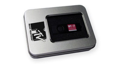 Metal Tin with Window USB Box