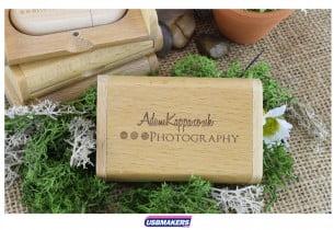 Light Wooden Flip Gift Box USB Makers