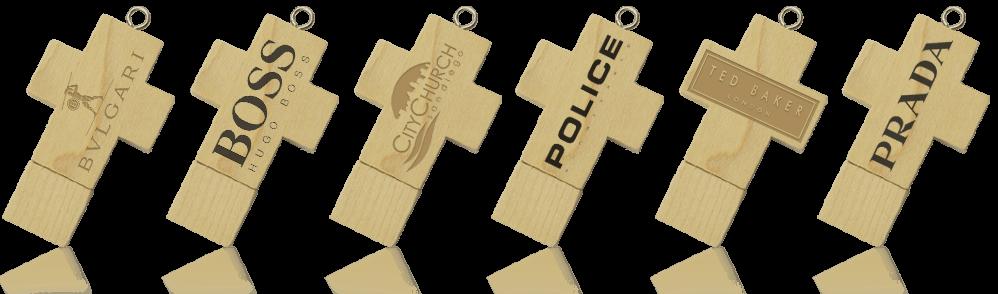 Wooden Cross USB Drive
