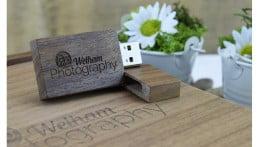 Wooden Block USB Drive - Dark Wood