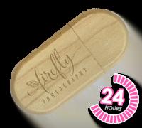 Wooden Pebble USB Memory Stick