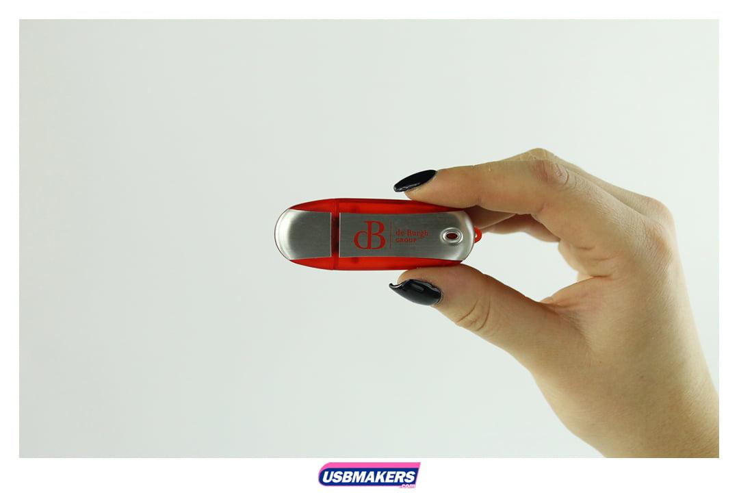 Oval Aluminium Branded USB Memory Stick Image 3