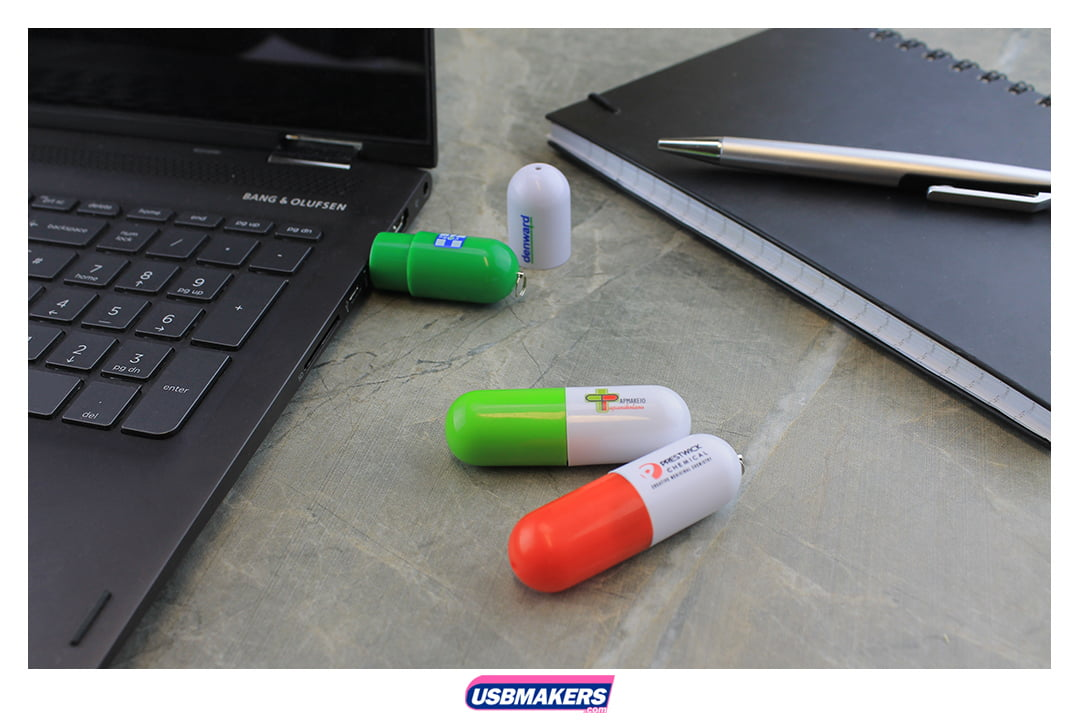 Pill Branded USB Memory Stick Image 1