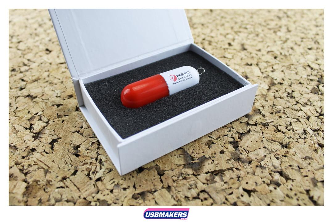 Pill Branded USB Memory Stick Image 1