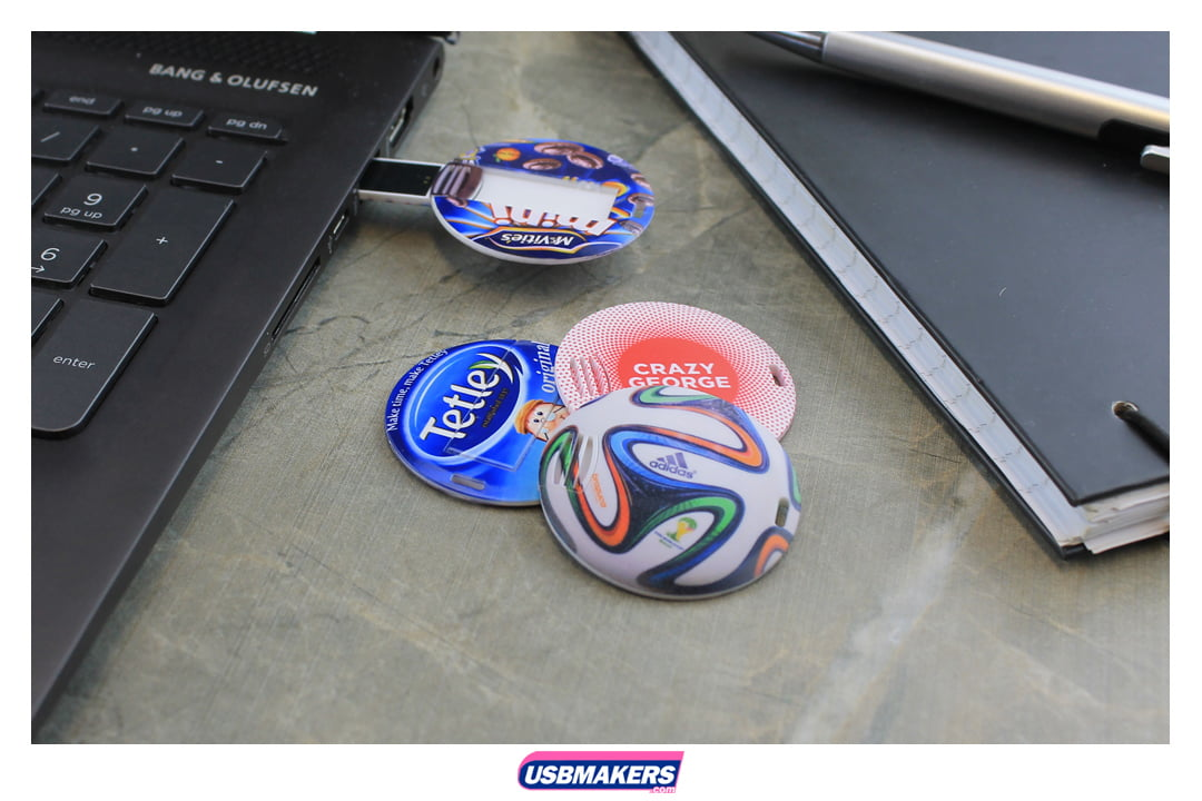 Circle Slim Card Branded USB Memory Stick Image 1