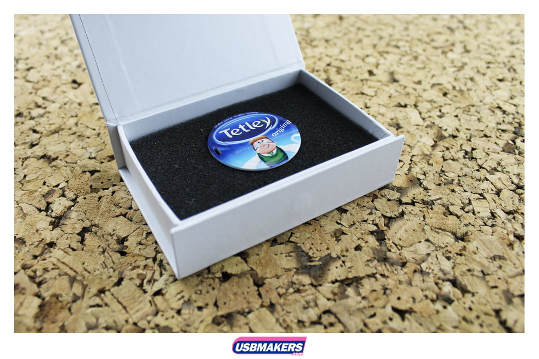 Circle Slim Card Branded USB Memory Stick Image 2