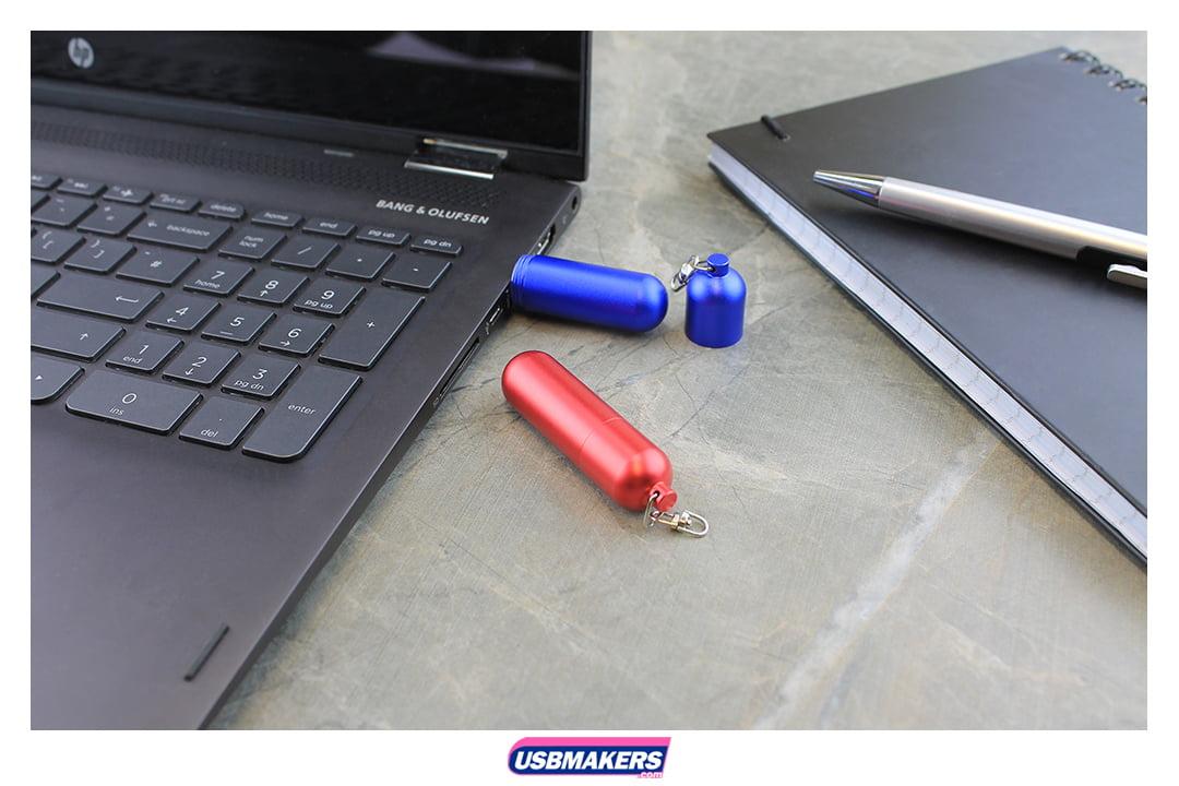 Cylinder Branded USB Memory Stick Image 1