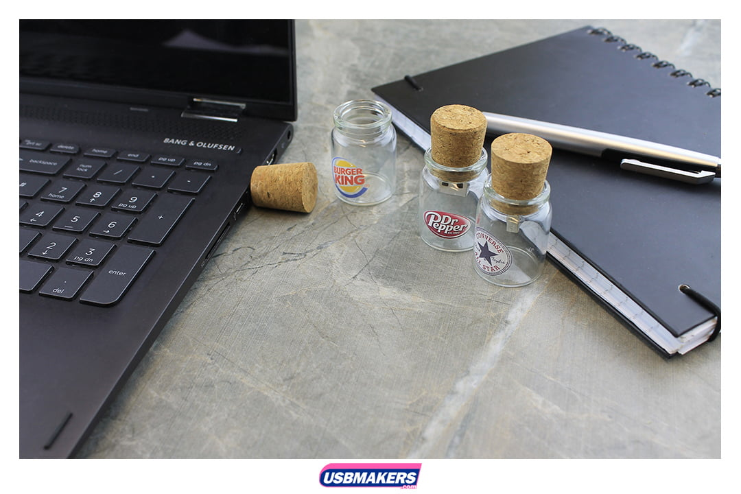 Glass Bottle Branded USB Memory Stick Image 1