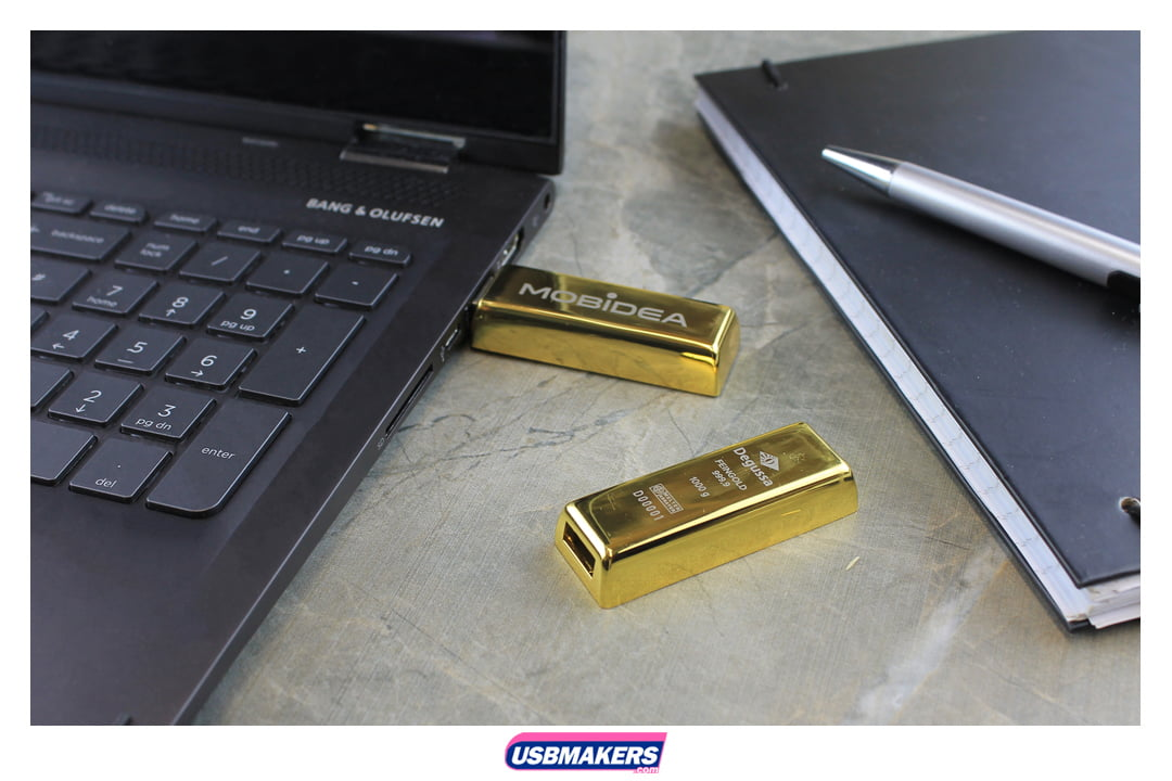 Gold Bullion Branded USB Memory Stick Image 1