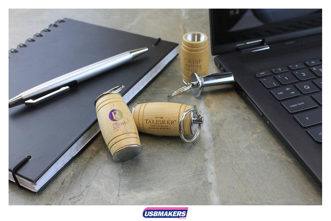 Oak Barrel Branded USB Memory Stick Image 1
