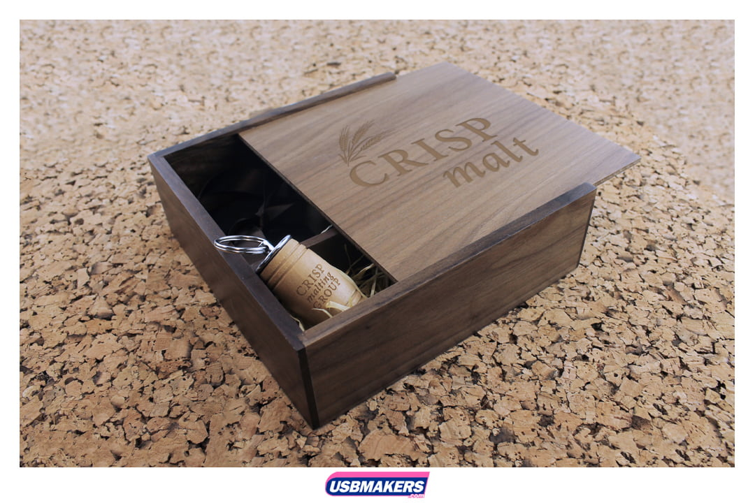 Oak Barrel Branded USB Memory Stick Image 2