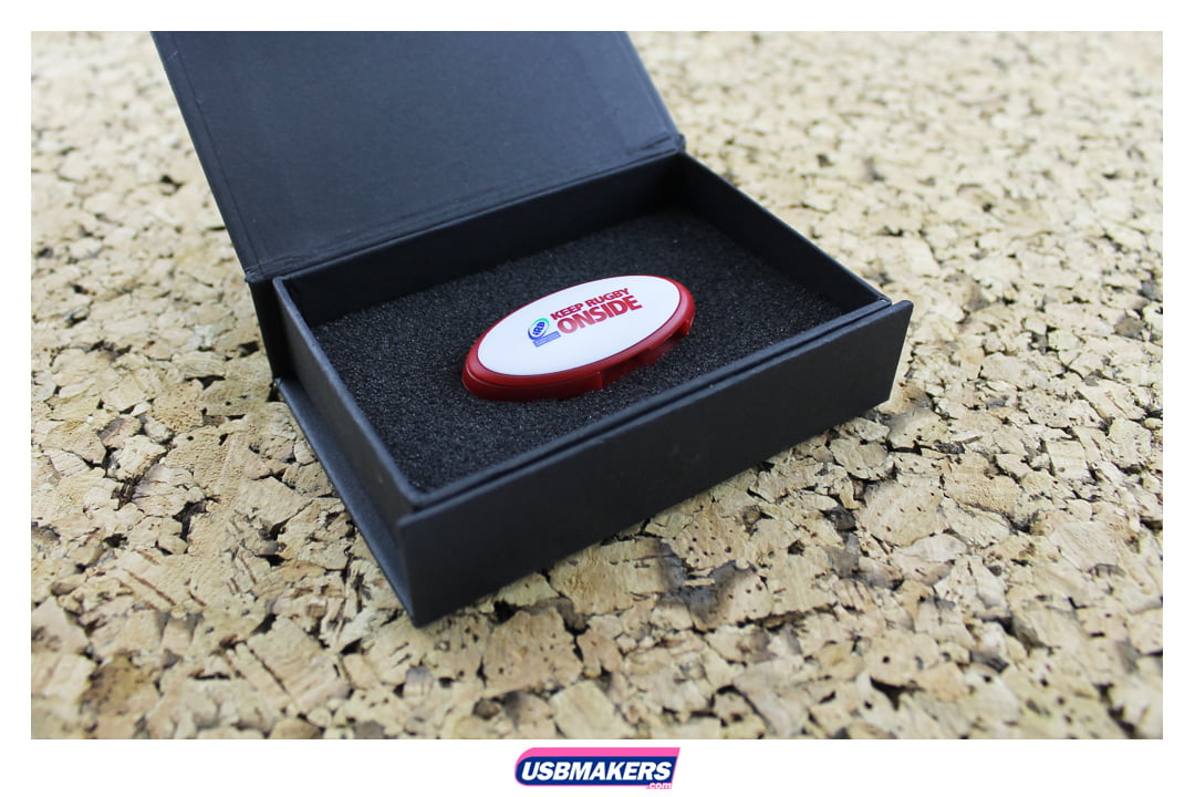 Oval Twister Branded USB Memory Stick Image 2