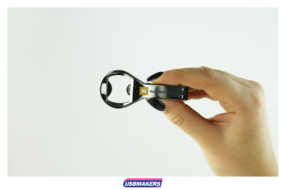 Retro Bottle Opener Branded USB Memory Stick Image 3