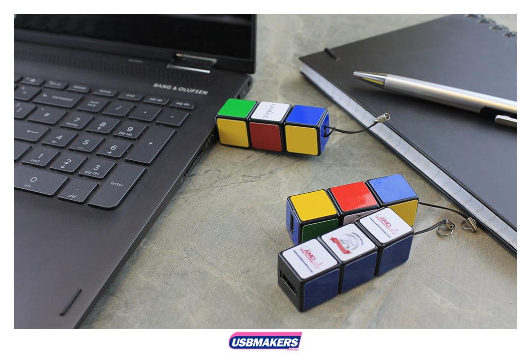 Rubix Cube Branded USB Memory Stick Image 1