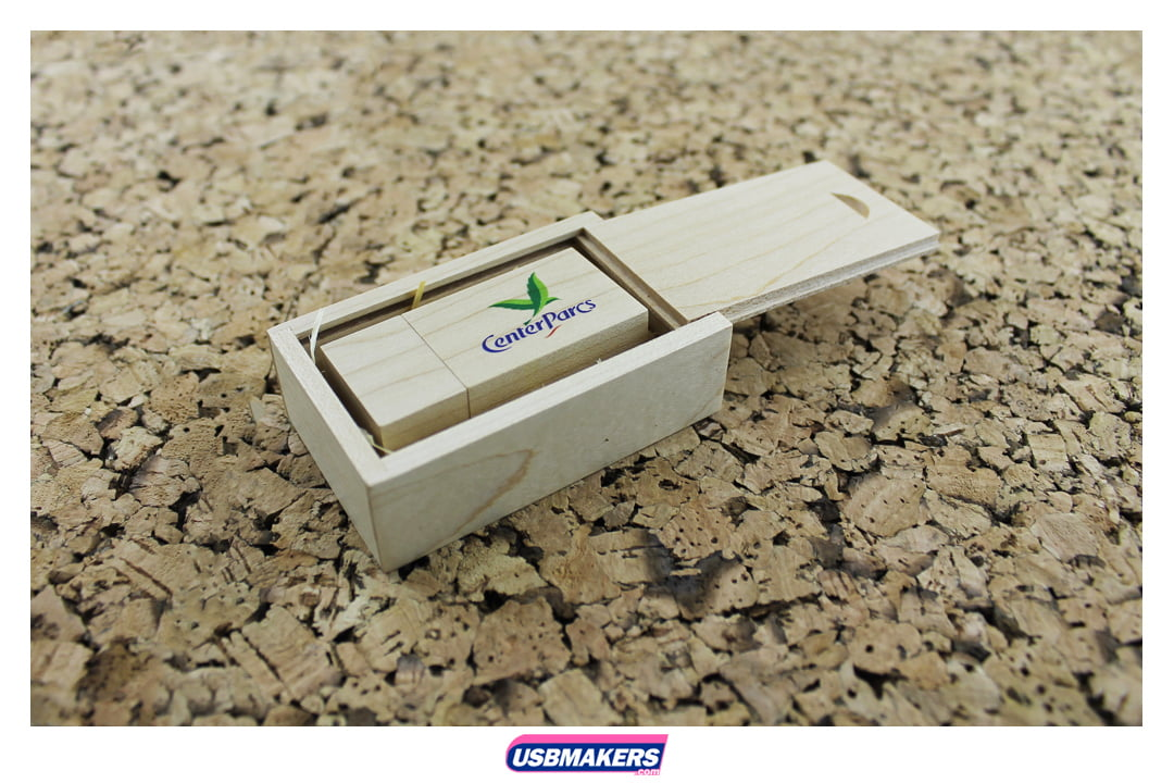 Wooden Block Branded USB Memory Stick Image 2