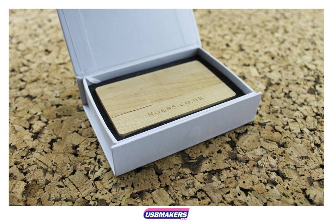 Wooden Card Branded USB Memory Stick Image 2