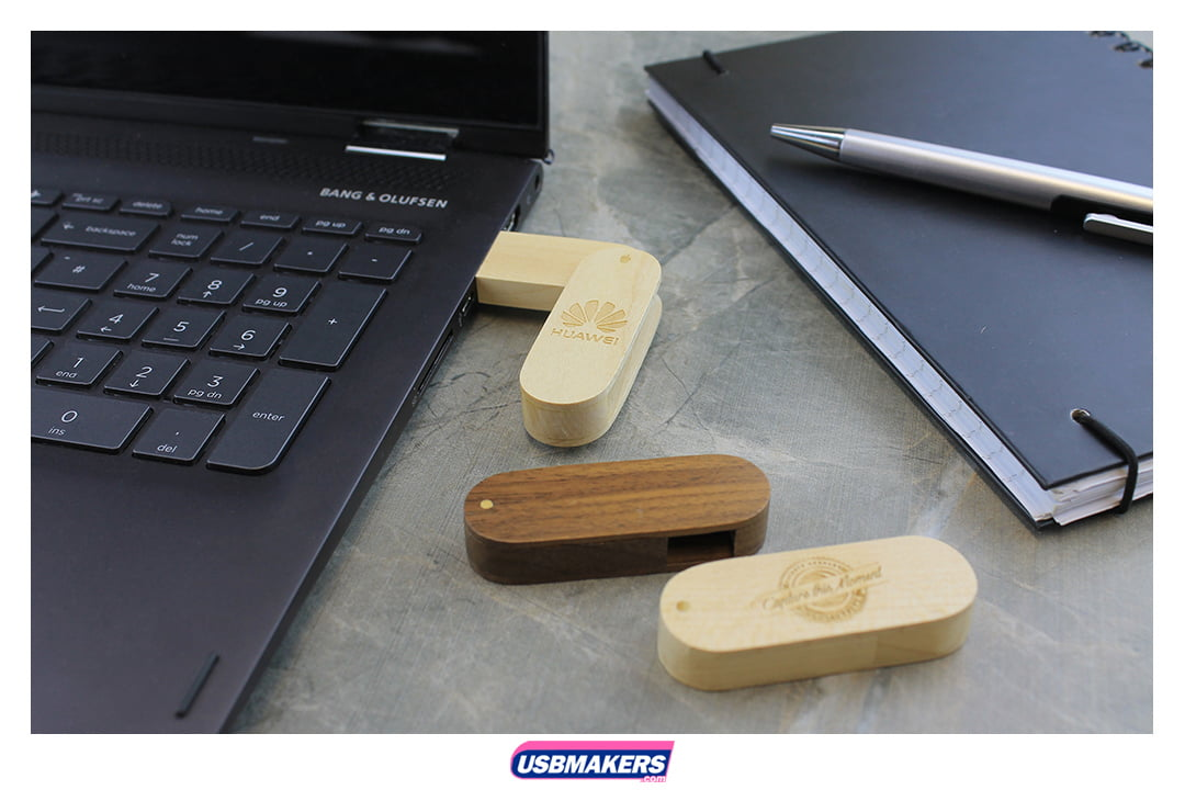 Wooden Twister Branded USB Memory Stick Image 1