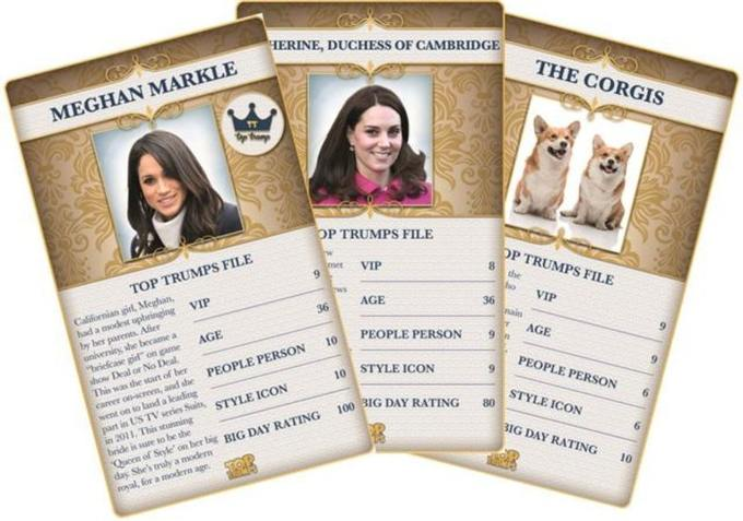 Royal Wedding Top Trumps Cards