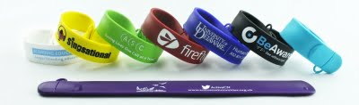 Slap On Wristband USB Memory Flash Drive