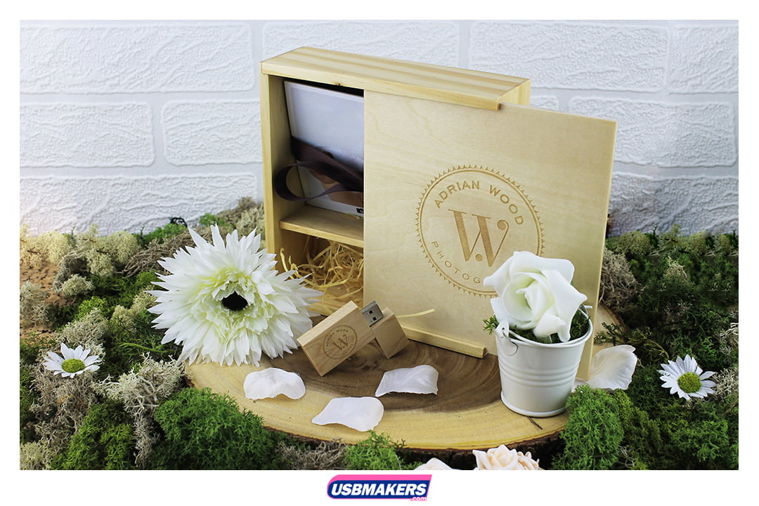 Wooden block and wooden photo box
