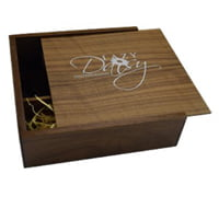 Dark Wooden Slide USB & Photo Prints Gift Box