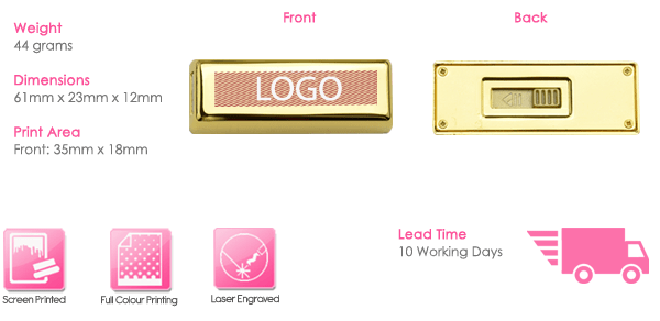 Gold Bullion USB Stick Print Area