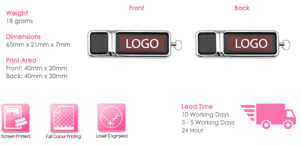 Hermes USB Stick Print Area
