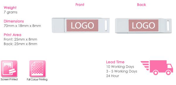 Loki USB Stick Print Area
