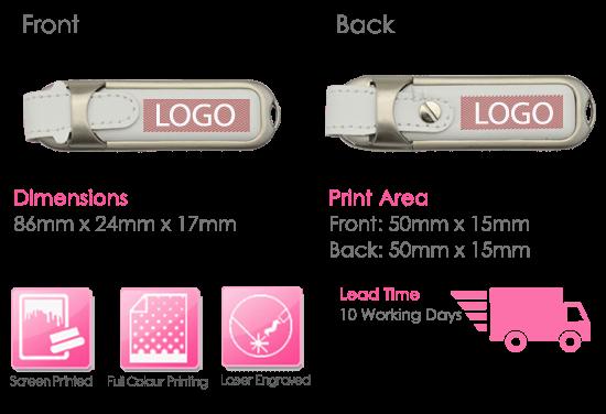 Napa USB Stick Print Area