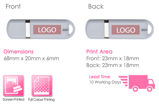 Titan USB Stick Print Area