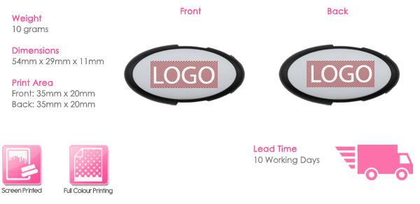 Oval Twister USB Stick Print Area