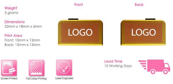 Slider USB Stick Print Area