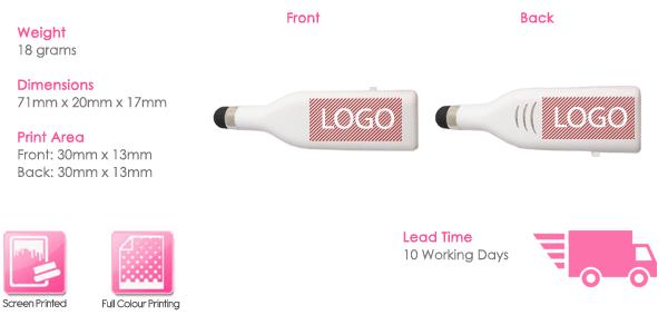 Stylus USB Stick Print Area