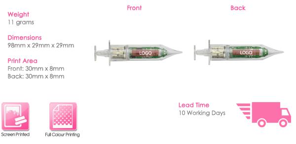 Syringe USB Stick Print Area
