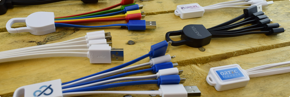 Logo Branded Multi Device Charging Cables