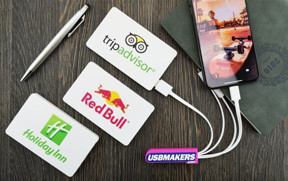 Logo Branded Card Style Power Banks