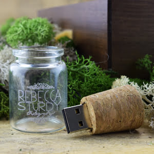 Custom Glass Bottle USB Stick