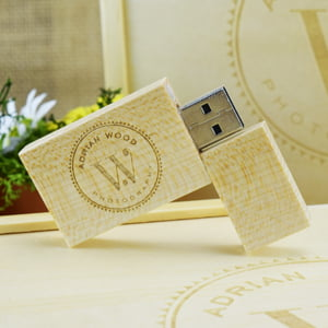 Custom Wooden Block USB Stick