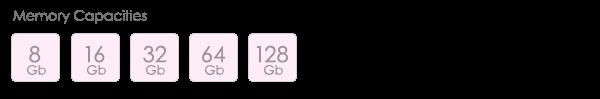 Poseidon Iphone Lightning USB Drive Capacities