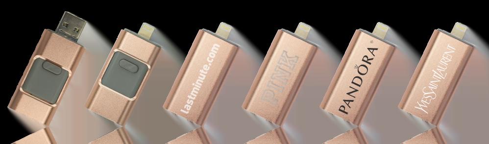 Enki Iphone Lightning Branded USB Stick