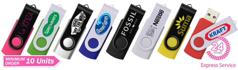 Twister Duo Custom Branded USB Memory Stick