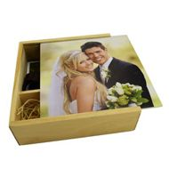 Light Wooden Slide Photo Prints Box