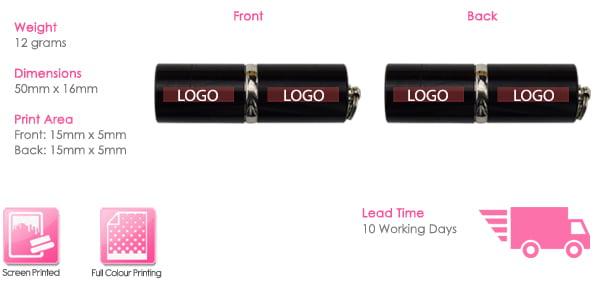 Lipstick USB Stick Print Area