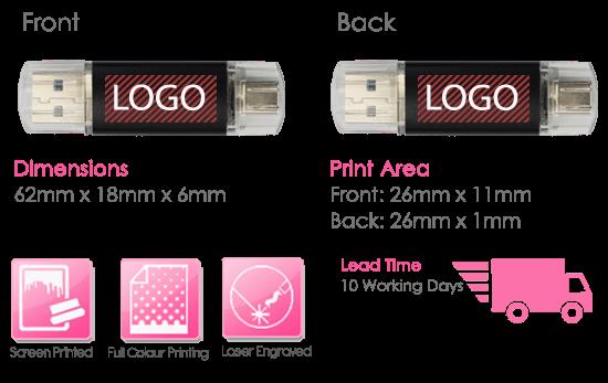 Hercules USB Stick Print Area