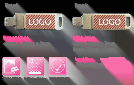 Kraken USB Stick Print Area