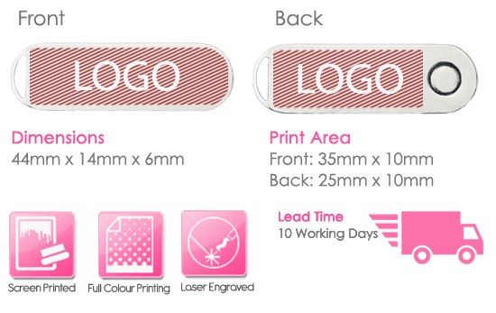 Luxury Twister USB Stick Print Area