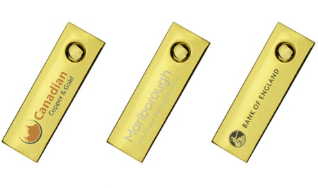 Mini Gold Twister USB Drive