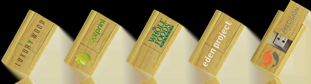 Wooden Flip USB Drive